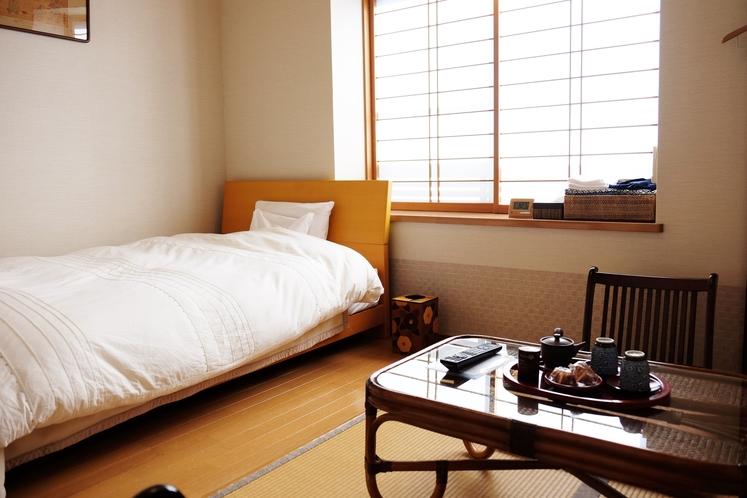 和室にベッド