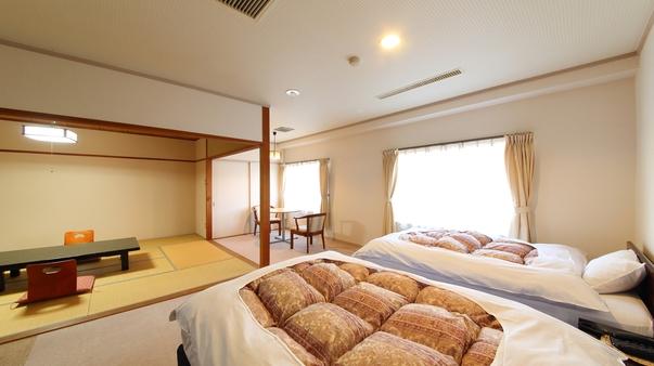 【禁煙通常和洋室】ツインベッドルーム+和室