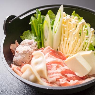 【リフト券なし/冬満喫プラン】幻のぼくち蕎麦&地元産みゆきポークの鍋☆天然温泉で寛ろごう♪