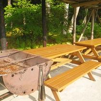 *【周辺】バーベキューを楽しめるスペースもあります。