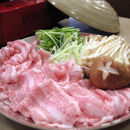 ご夕食一例(豚しゃぶしゃぶ)