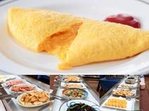 出来立て「ふわとろオムレツ」が大人気♪の朝食バイキング