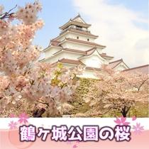 会津若松市「鶴ヶ城」の桜 当ホテルより車で約70分