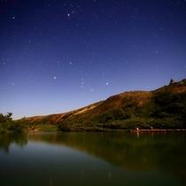 八方池から見た星空