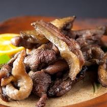 【会席料理】地鶏の炭火焼