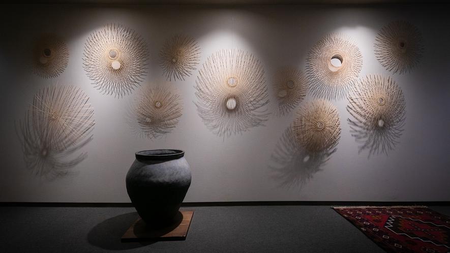 別府の竹細工の作家さんの作品