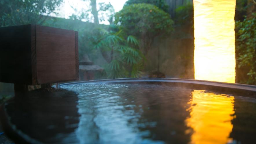 浴場の奥に 新設された露天風呂