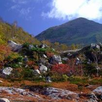 秋の五色温泉の一景