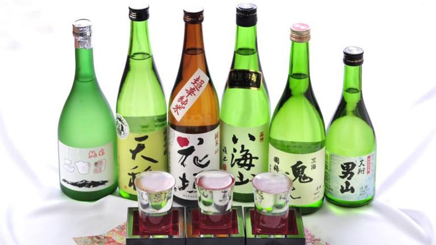 【飲み比べセット】お好みの3種をお選びいただけます。和食膳とともに地酒の味わいをお楽しみください。
