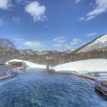 眺望の湯 冬 昼間