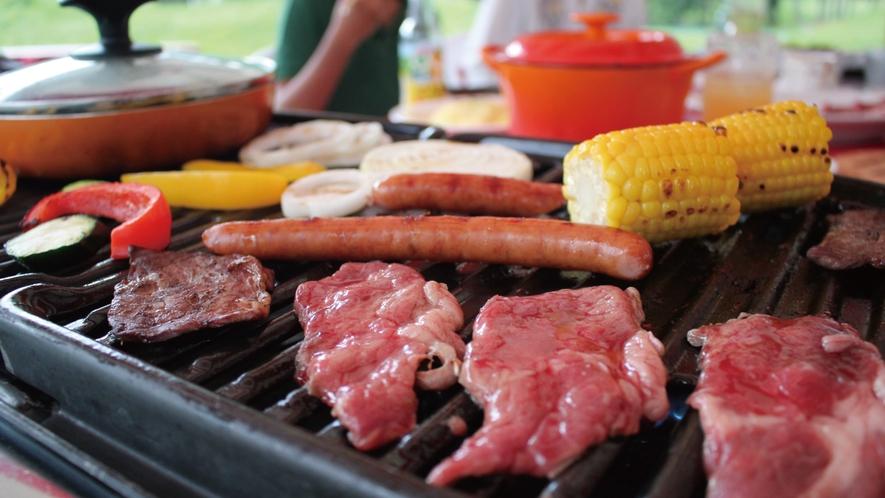 リゾートバーベキューはお肉・お野菜・リゾットなどなど!バーベキューのコースみたい♪(夏季限定)