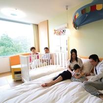 【ベビールーム】2名+赤ちゃん1名 赤ちゃんに優しいウェルカムベビーのお宿認定のお部屋です。