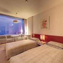 【スタンダードツイン】2名定員 シンプルなツインタイプで清潔感のあるお部屋です。