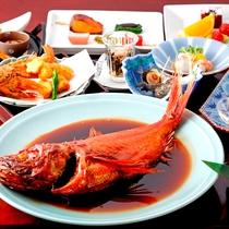 *地物刺身盛・金目鯛の煮付け&海浜料理DX