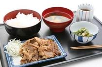 夕食の生姜焼き