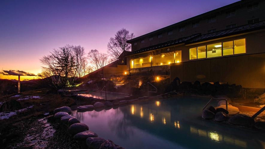 【こまくさの湯】天空の露天風呂で、特別な空間をご満喫いただけます