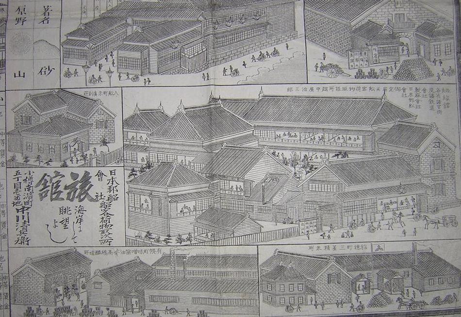 明治時代の小樽絵図