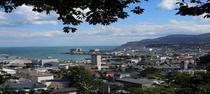小樽港望む