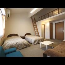 【ロフト付客室】わくわく感が止まらないお部屋です