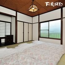 【けやき】定員:3名〜6名 2階は楽しい仲間と川の字になって寝る寝室に