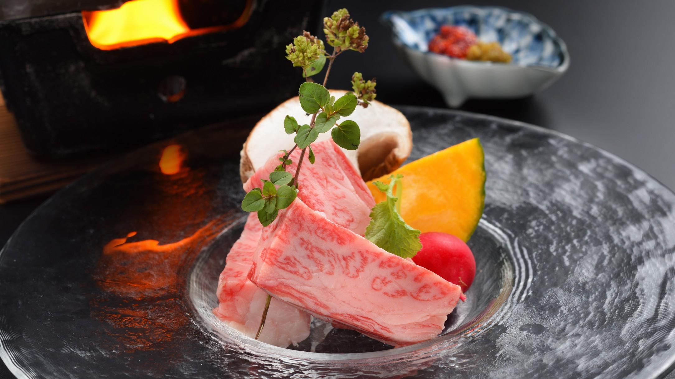 夕食バイキング別注料理:仙台牛鉄板焼き