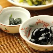 朝食-煮豆