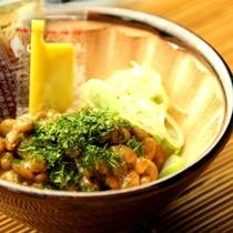 食事単品(すり鉢で食べる納豆)