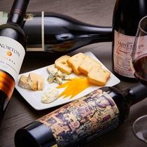 <ワイン&チーズセット>