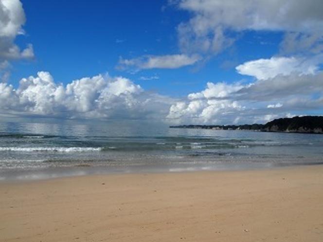 朝の おんじゅくビーチ