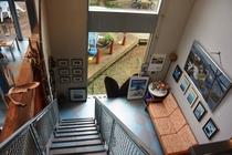 階段2階からの眺め