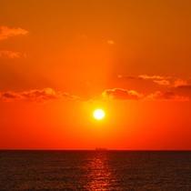 宿から日の出が見られます!