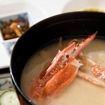 *朝食一例/海の幸を使った味噌汁は、体に優しくしみわたります♪