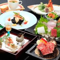 *夕食一例/お料理は旅の楽しみの基本。旬を大切にした当館ならではの会席料理でおもてなし致します!