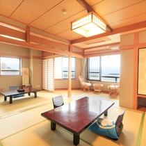 *次の間付き和室一例/広さは10畳以上でご家族でもゆったり。グループ利用でもお勧め。