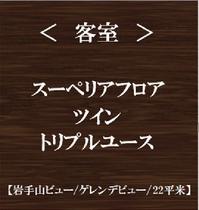 【客室】スーペリアフロア ツイン トリプルユース(岩手山ビュー/ゲレンデビュー)