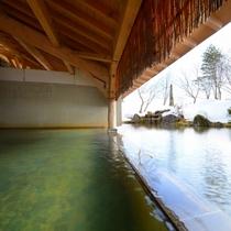【雫石高倉温泉】冬は雪見露天風呂が楽しめます。