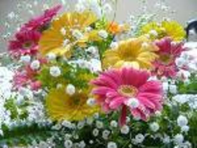 記念日には・・・女将アレンジのお花をプレゼント(南紀白浜育ちのお花で)