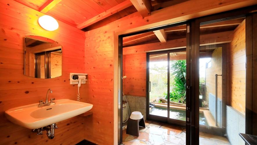 露天風呂付き客室(B-2)|脱衣所