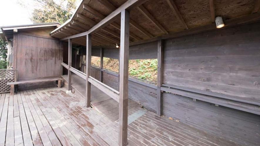 温泉|貸切露天風呂までの廊下
