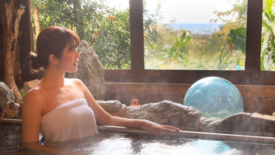 温泉|河津温泉を貸切露天風呂で満喫。