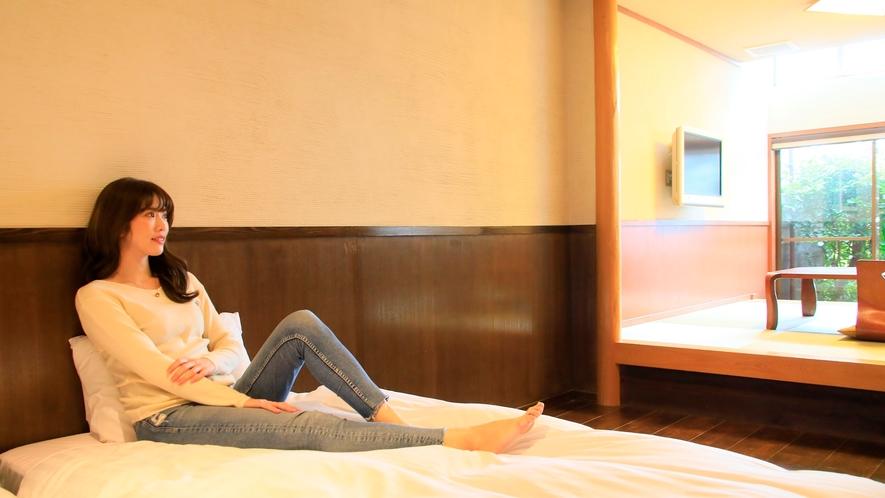 露天風呂付き客室(B-2)|気兼ねなくのんびりお過ごしいただけます。