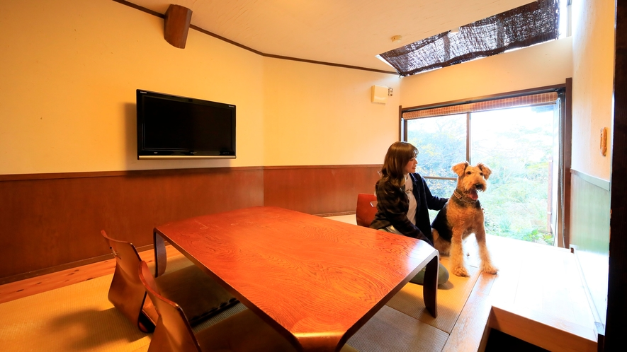 露天風呂付き客室(B-3)|ペット連れのお客さまも大歓迎♪