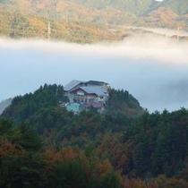 高原荘と雲海
