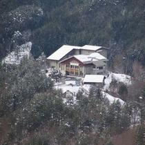 外観・雪景色
