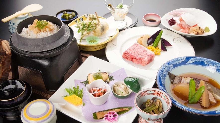 ・特別会席 なごみ御膳 四季折々の山と海の幸を贅沢に盛り込んだ料理長自慢の特別な会席料理です。