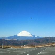 *大湧谷より望む富士山