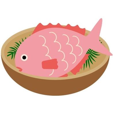 お子様に鯛を丸1匹◆お食い初め膳付きお祝いプラン◆基本ランクの本格懐石 お部屋食〜