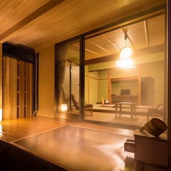 【禁煙】極上の湯と上質空間【温泉露天風呂付客室】百合
