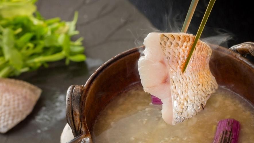 ノドグロの塩麹鍋(写真は料理一例です)