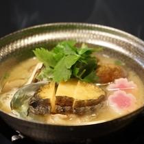 鮑の酒粕鍋